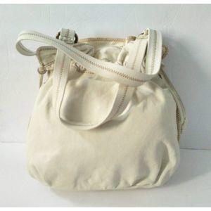 Lucky Brand Creme Leather Drawstring Bag